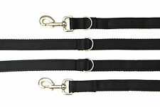 8ft Police Style Dog Training/Obedience Lead 25mm Cushioned Webbing In Black