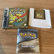 Pokemon Gold Version Nintendo Game Boy Color Boxed & Complete - FAST POST
