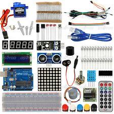 Ultimate Starter Learning Kit for Arduino UNO R3 LCD 1602 Servo Motor LED Sensor