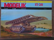 MODELIK Nr. 2/09 IT-28 RUSSIAN SELF PROPELLED GUN Paper model Card model