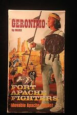 "Johnny West 1968 Geronimo 12"" Figure w/Box, Accessories & Equip. Manual  MARX"