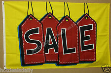 SALE WITH TAGS FLAG 3'x5' ADVERTISING GROCERY SALE BANNER FLEA MARKET STORE NIP