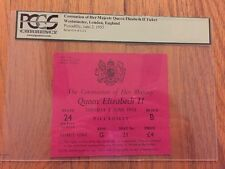 1953 Coronation Majesty Queen Elizabeth II Ticket Westminster Piccadilly PCGS