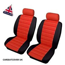 ALFA ROMEO 156 GTA - Front PAIR of Red LEATHER LOOK Car Seat Covers