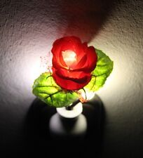 LED Rose Nightlight Nachtlicht NEU/OVP Lichtsensor Lampen Steckdose Licht Light