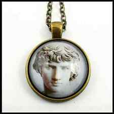 Antinous roman sculpture archaeology pendant necklace / collana ciondolo Antinoo