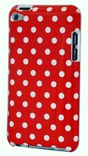 for iPod touch 4th 4 th 4 g itouch case red w/ white polka dots hard back case
