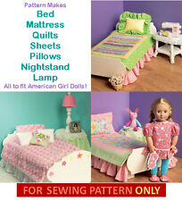 SEWING PATTERN! MAKE BED~SHEETS~QUILTMORE! FITS AMERICAN GIRL DOLL GRACE~JULIE!