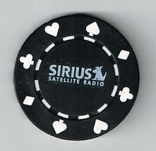 SIRIUS SATELLITE RADIO DOG LOGO BLACK POKER CHIP GREAT FOR ANY COLLECTION!