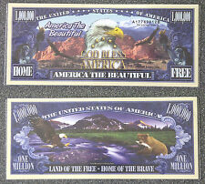One Million Dollars America The Beautiful - Novelty Money