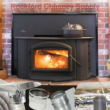 """Napoleon 1402 Fireplace Insert Wood + 6"""" x 20' Chimney Liner and Insulation Kit"""