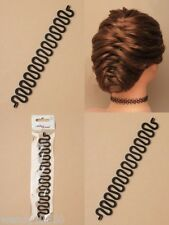 BLACK PLASTIC FRENCH BRAID TOOL, EASY HAIR STYLING, BUN MAKER, TWIST : 0252