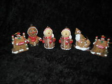 LOT OF 6 PORCELAIN CHRISTMAS ORNAMENTS - VINTAGE ITEMS AND REALLY CUTE!