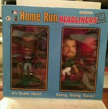MLB HOME RUN HEADLINERS MARK MCGUIRE AND KEN GRIFFEY JR. BOBBLE HEAD 1998 NIB