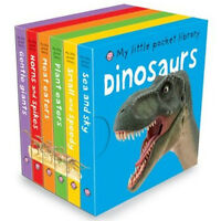 My Little Pocket Library Dinosaurs Collection 6 Children Books Set, Meat Eaters