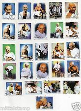 A BEAUTIFUL SET OF 25 STAMPS OF MAHATMA GANDHI BAPU WITH NEHRU TAGORE ALL LARGE