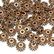 MB393p Antiqued Copper Dotted Rondelle 10mm Zinc Alloy Metal Beads 25/pkg
