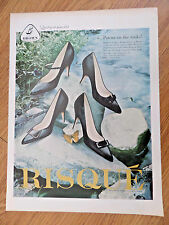1959 Brown Shoes Ad Lot of 3 Ads Risque Life Stride Naturalizer