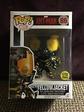 FUNKO POP ANT-MAN YELLOW JACKET GLOW IN THE DARK #86 AMAZON EXCLUSIVE R2S