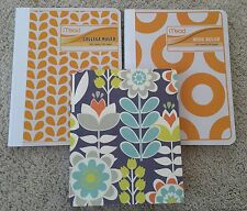Lot of 3: NEW Folklore Mead College Wide Ruled Lined Notebook Journal Diary Set