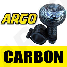 CARBON EFFECT LOOK CAR VAN STEERING WHEEL KNOB HANDLE HELP SPINNER TURNING BALL