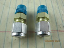 "(2) ¼""Tube x 1/8"" MNPT Alok Instrument Connector A-400-1-2 Swagelok Aircraft Alu"
