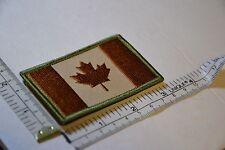 CANADA ARMY FLAG PATCH COMBAT MORALE MILITARY BROWN MULTICAM MILSPEC ACU QUALITY