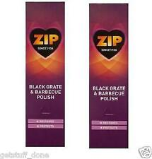 2 x 75ml TUBI ZIP BLACK FIRE Griglia & BARBECUE BBQ POLACCO protegge Zebo Hot Spot