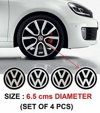260- ALUM STICKON ALLOY WHEEL CENTRE CAPS VW VOLKSWAGEN POLO VENTO JETTA 65 mm