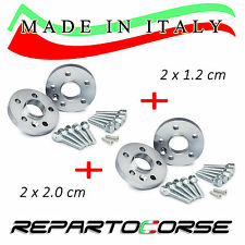 KIT 4 DISTANZIALI 12+20mm REPARTOCORSE VOLKSWAGEN GOLF III 3 100% MADE IN ITALY