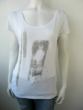 Guess Damen Top Shirt W21L15 T-Shirt Tee Jersey Strass Neu Weiss L
