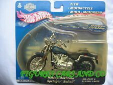 MOTO 1/18 HARLEY DAVIDSON  SPRINGER SOFTAIL   2000 BLISTER HOT WHEELS