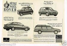 Publicité Advertising 1993 (2 pages) Rover 111 L 2.0 GTD Estate Mini British 214