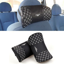 NEW CAR TRAVEL PILLOW HEADREST SEAT CUSION PAD NECK HEAD BACK REST SUPPORT BLACK