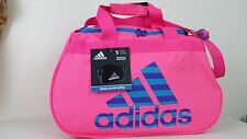 NWT ADIDAS Diablo Small II Duffel Bag Pink Solar Blue Sport Gym Travel Carry On