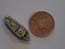 vintage sterling silver opening speed boat charm / pendent