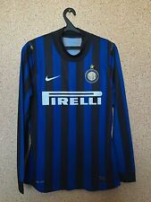 INTER MILAN Italian HOME FOOTBALL SHIRT CAMISETA LONG SLEEVE Nike Dri Fit