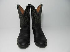 TWISTED X BLACK LEATHER COWBOY WESTERN BOOTS SIZE  MEN'S 9 D
