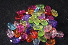 Transparente Color Oval Facetado granos-la fabricación de joyas-Para Niños Joyas