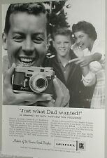 1958 Graflex ad, Graphic 35 Happy Dad Christmas Present