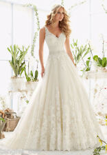 New White ivory Wedding dress Bridal Gown custom size 4 6 8 10 12 14 16