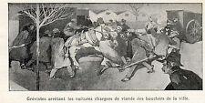 ESPANA BARCELONA GREVISTE ARRETANT VOITURES CHARGEES VIANDES BOUCHER  IMAGE 1902