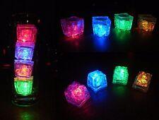 Glacons Led Lumineux multicolores pour fêtes/soirées/ cocktails Boite 24 pcs