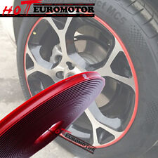 Vehicle Moulding Trim RED Rubber RIM Wheel Protector 4 RIMS Car Tire Guard Line
