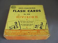 Vintage Math Flash Cards Division 1948 Schoolcraft Woolworth