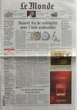 Journal de Naissance - Le Monde n°18643 du dimanche 2 et lundi 3 janvier 2005