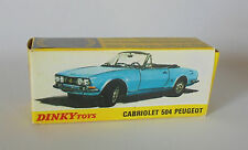 Repro box DINKY Nº 1423 peugeot 504 Cabriolet