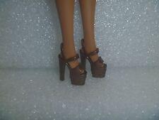 Barbie Shoes - Bronze Extreme Platform Stiletto Heel Pole Dancer Style Rare