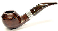 Peterson Harp Sterling Silver Mounted Rhodesian Pipe with Free Pipe Tool (80s)