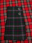 TC Scottish National Tartan Kilt 8 Yards/Kilt 8 Yard Scottish National